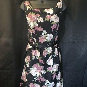 Knee length floral print dress